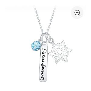"""Sterling silver Disney necklace """"sisters forever"""""""